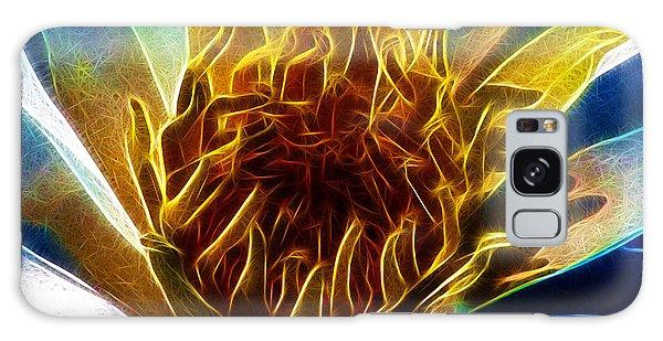 Glowing Lotus Galaxy Case