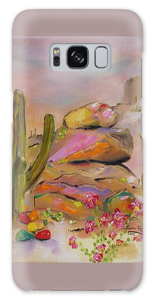 Gold-lined Rocks Galaxy Case by Judith Rhue