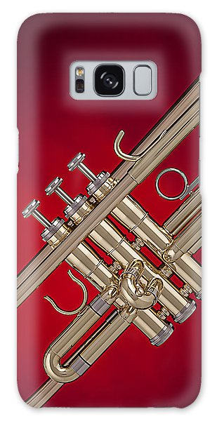 Gold Trumpet Isolated On Red Galaxy Case