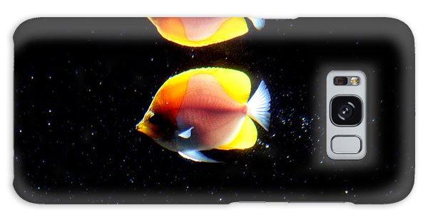 Golden Fish Reflection Galaxy Case