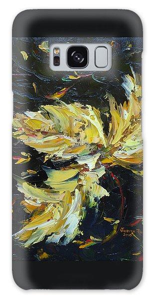 Golden Flight Galaxy Case by Judith Rhue