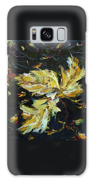 Galaxy Case featuring the painting Golden Flight by Judith Rhue