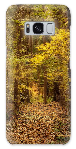Golden Forest Galaxy Case by Cindy Haggerty