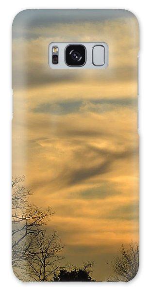 Golden Hue Galaxy Case