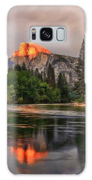 Golden Light On Halfdome Galaxy Case