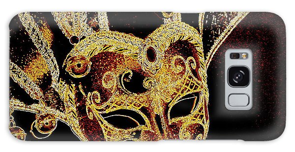 Golden Mask Galaxy Case by Lori Seaman