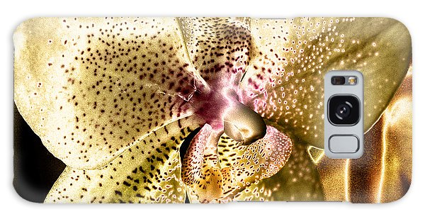 Golden Orchid Galaxy Case by Barbara Middleton