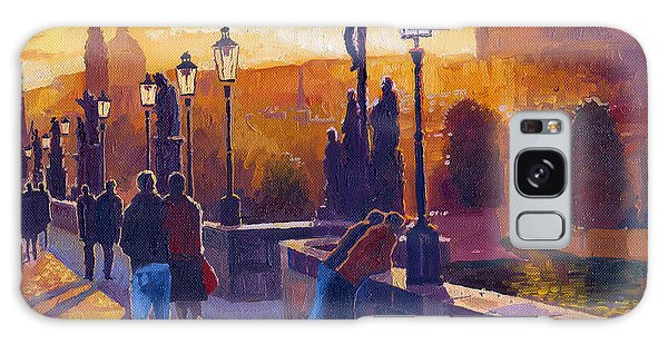 Architecture Galaxy Case - Golden Prague Charles Bridge Sunset by Yuriy Shevchuk