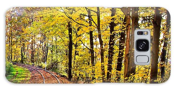 Golden Rails Galaxy Case by Sara Frank