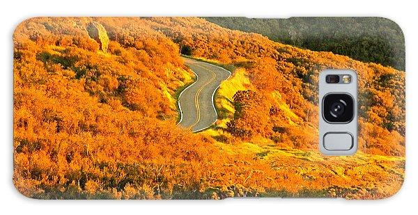 Golden Road Galaxy Case by Michael Cinnamond