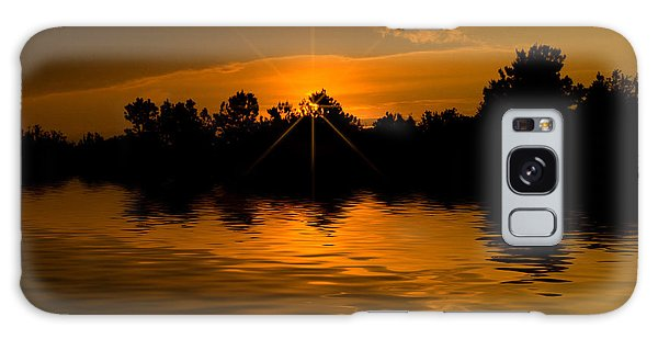 Golden Sunrise Galaxy Case by Cindy Haggerty