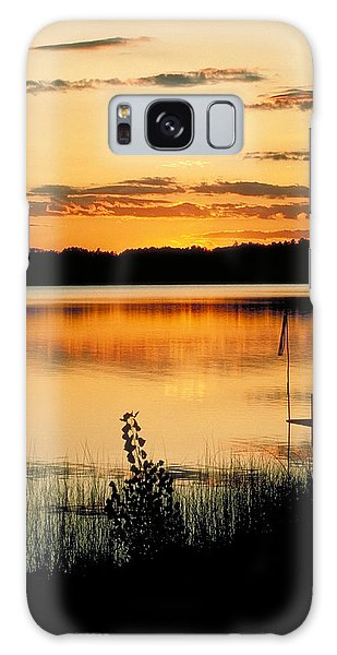 Golden Sunset Galaxy Case
