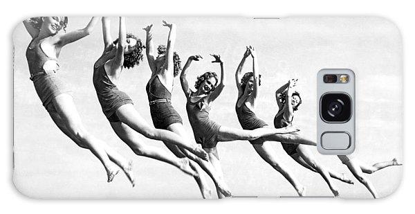 Graceful Line Of Beach Dancers Galaxy Case
