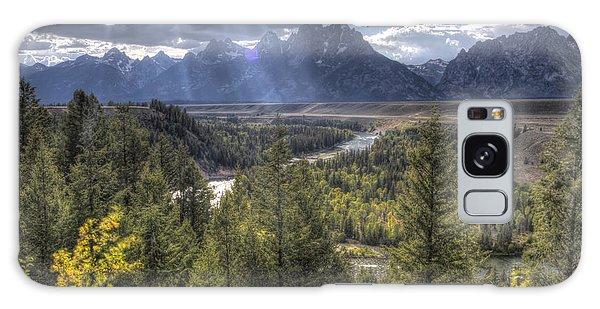 Teton Range Galaxy Case - Grand Teton National Park And Snake River by Dustin K Ryan