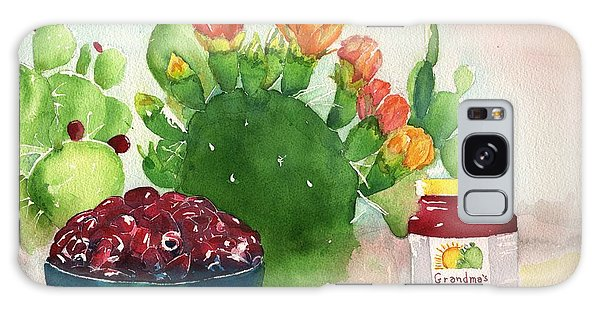 Grandmas Prickly Pear Jam Galaxy Case by Sharon Mick