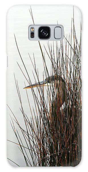 Great Blue Heron Galaxy Case by Kay Lovingood
