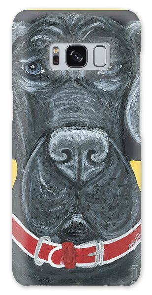 Great Dane Poster Galaxy Case