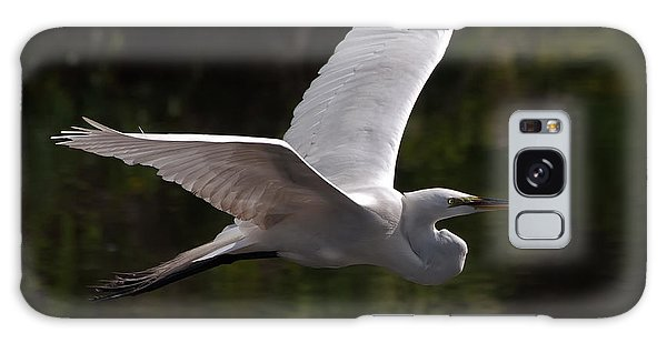 Great Egret Flying Galaxy Case