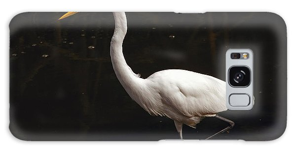 Great Egret Hunting Galaxy Case