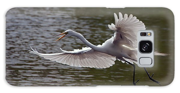 Great Egret In Flight Galaxy Case