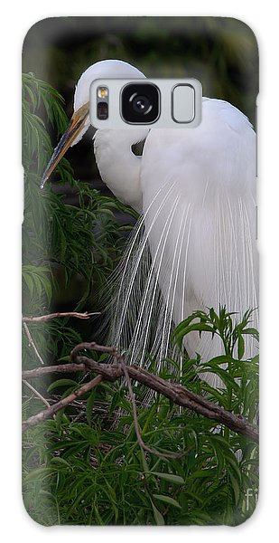 Great Egret Nesting Galaxy Case