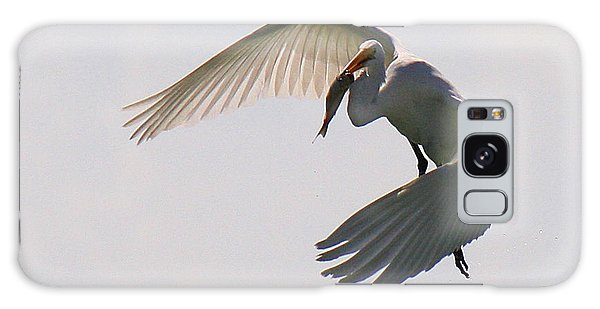 Great Egret Successful Fishing Galaxy Case