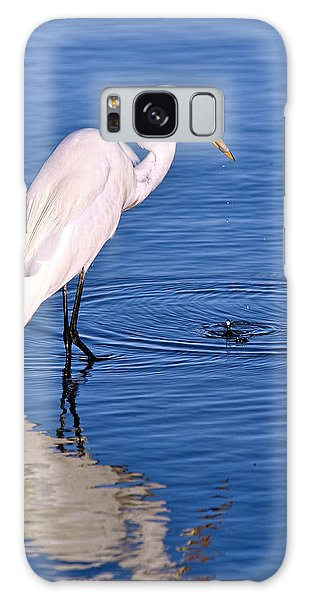 Great Egret With Shrimp Galaxy Case
