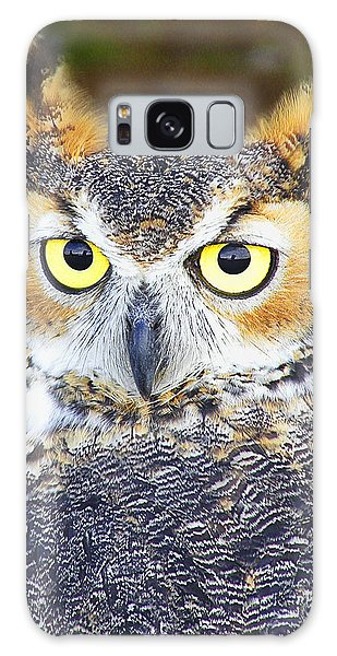 Great Horned Owl Galaxy Case by Barbara Middleton