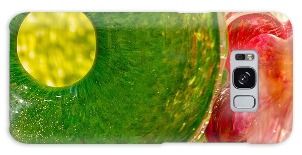 Green And Red Galaxy Case by Artist and Photographer Laura Wrede