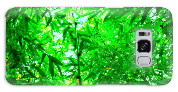 Green Bamboo Forest  Galaxy Case