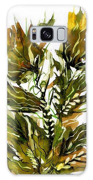 Green Flames Galaxy Case by Rachel Hershkovitz