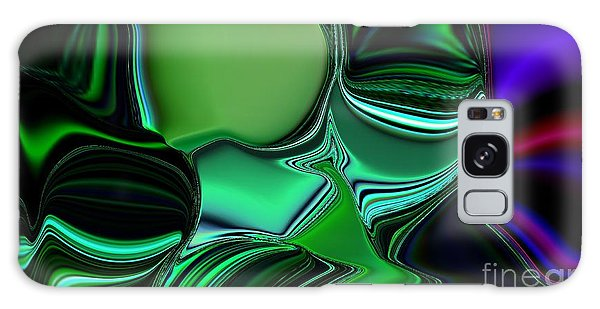 Green Nite Distortion 3 Galaxy Case by Greg Moores