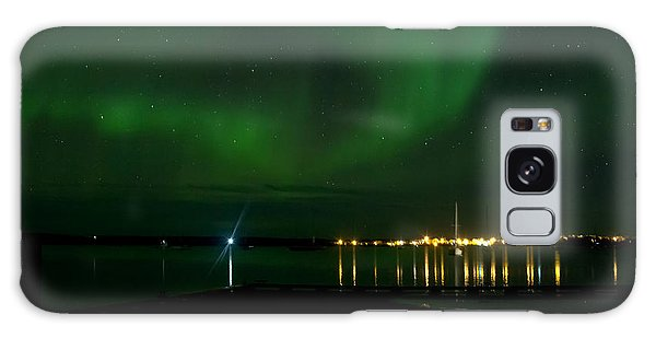 Green Over The Lake Galaxy Case