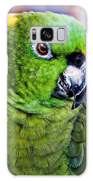 Green Parrot Galaxy Case