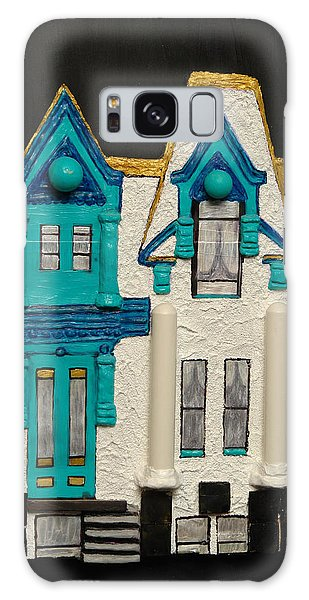 Green Victorian Mansion-montreal Galaxy Case