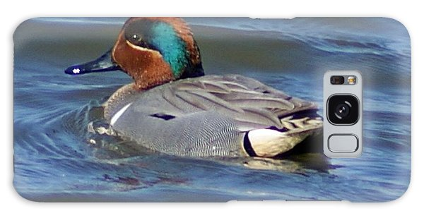 Green Winged Teal Galaxy Case by Joe Faherty