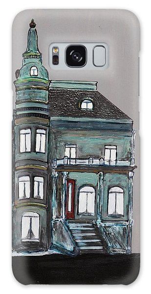 Grey Victorian Mansion-montreal Galaxy Case