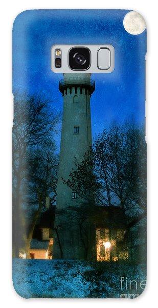 Grosse Point Lighthouse Before Dawn Galaxy Case by Jill Battaglia