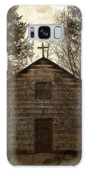 Grungy Hand Hewn Log Chapel Galaxy Case