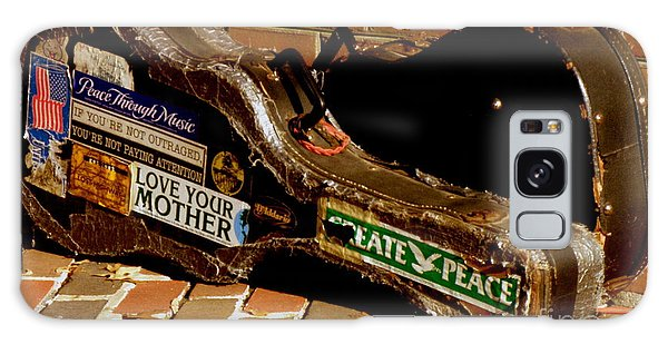 Guitar Case Messages Galaxy Case by Lainie Wrightson