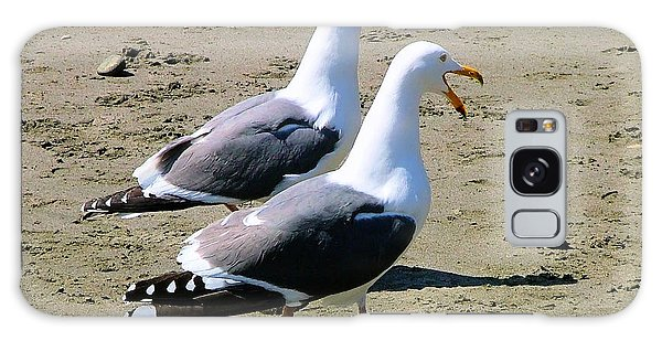 Gull Talk Galaxy Case by Wendy McKennon