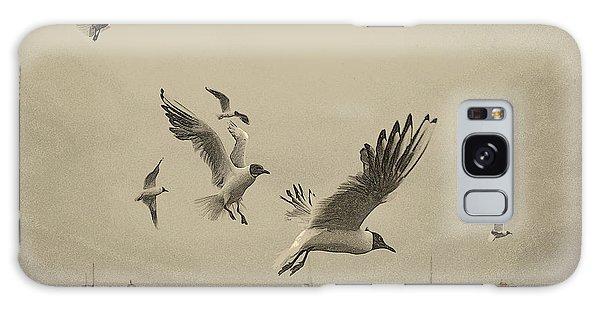 Gulls Galaxy Case by Linsey Williams