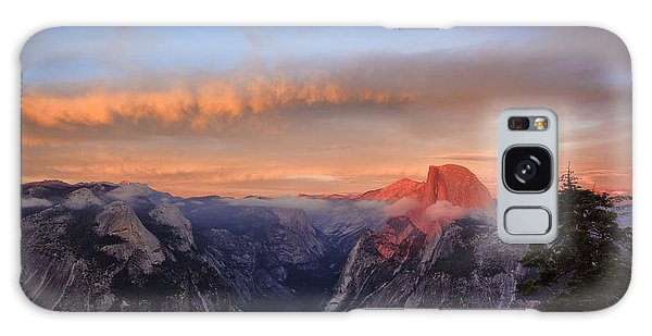 Half Dome At Sunset Galaxy Case