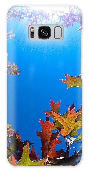 Happy Autumn Galaxy Case by CML Brown