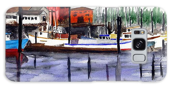 Harbor Fishing Boats Galaxy Case