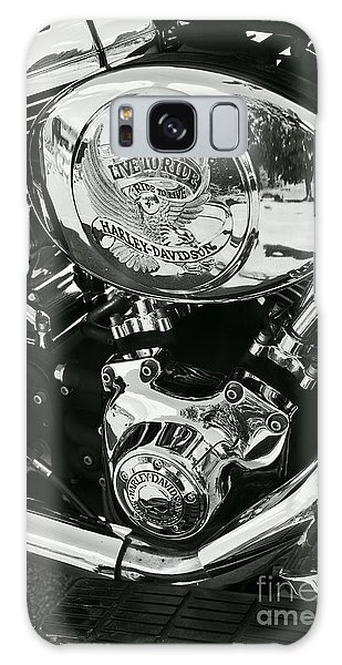 Harley Davidson Bike - Chrome Parts 02 Galaxy Case