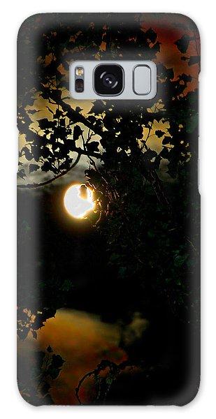 Haunting Moon IIi Galaxy Case by Jeanette C Landstrom