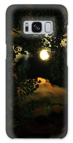 Haunting Moon Galaxy Case by Jeanette C Landstrom
