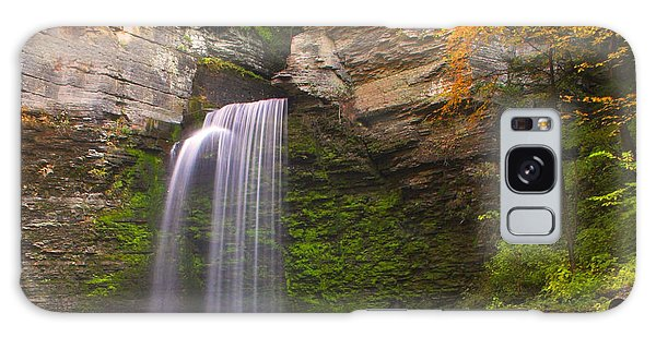 Havana Glen Waterfall Galaxy Case by Cindy Haggerty
