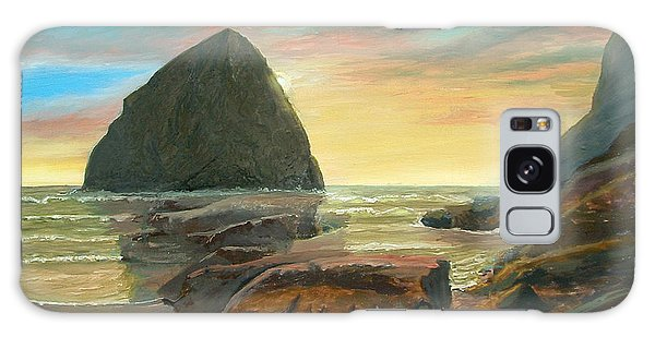 Haystack Kiwanda Sunset Galaxy Case